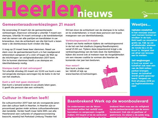 de advertentie in 1Heerlen